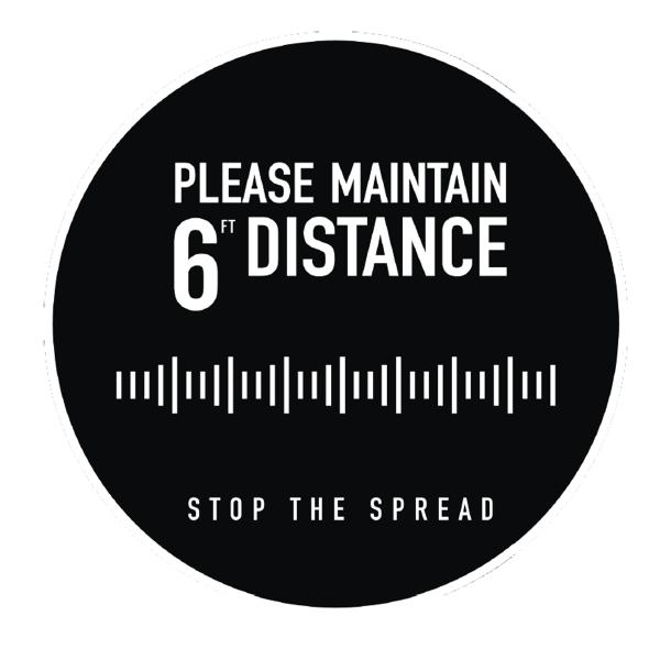 "6-Ft Distance Marker – Circle Black 18"""